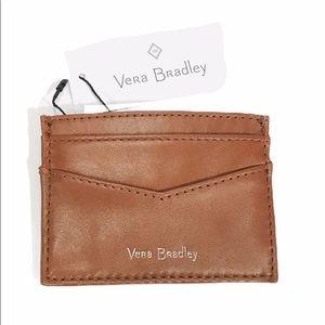 Vera Bradley Carryall RFID Slim Card Case, Brown
